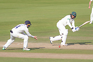 Hassan Azad goes to 50 during the Specsavers County Champ Div 2 match between Durham County Cricket Club and Leicestershire County Cricket Club at the Emirates Durham ICG Ground, Chester-le-Street, United Kingdom on 20 August 2019.