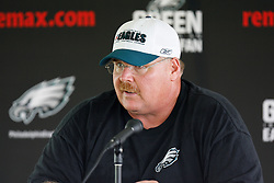 Bethlehem, PA - August 2nd 2008 - Head Coach Andy Reid speaks during a press conference during the Philadelphia Eagles Training Camp at Lehigh University (Photo by Brian Garfinkel)