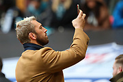 Former England rugby caotain Chris Robshaw during the NFL game between Houston Texans and Jacksonville Jaguars at Wembley Stadium in London, United Kingdom. 03 November 2019