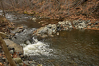 Rock Brook along Hollow road in Skillman, New Jersey. Image taken with a Nikon D200 camera and 17-55 mm f/2.8 lens.
