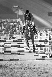Vangeenberghe Jean Claude, BEL, Avontuur<br /> Vlaanderens Kerst Jumping Mechelen, 1990<br /> © Hippo Foto - Dirk Caremans<br /> 15/12/2020