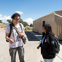 Middle College High School Students Bryan Collison (left), 17, a senior and Mei Avila, 14, a sophomore photographed next to the Middle College portables at University of New Mexico-Gallup campus, Tuesday Sept. 25, 2018.
