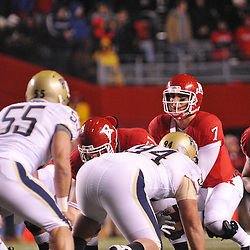 Oct 16, 2009; Piscataway, NJ, USA; Rutgers quarterback Tom Savage (7) lines up under center during first half NCAA football action in Pittsburgh's 24-17 victory over Rutgers at Rutgers Stadium.