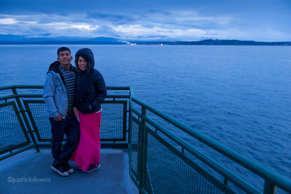 Ferry portrait aboard the Whidbey Island to Port Townsend WA ferry.