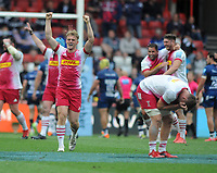 Rugby Union - 2020 / 2021 Gallagher Premiership - Semi-Final - Bristol Bears vs Harlequins - Ashton Gate<br /> <br /> Louis Lynagh of Harlequins leads the celebrates at the final whistle<br /> <br /> Credit : COLORSPORT/Andrew Cowie