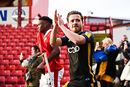 Jack Payne of Bradford City (10) enters the pitch before kick off during the EFL Sky Bet League 1 match between Barnsley and Bradford City at Oakwell, Barnsley, England on 12 January 2019.