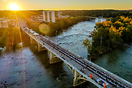 Aerial drone photo of the 2018 Soda City Gervais Street Bridge Dinner. Photo © Jeff Blake Photo