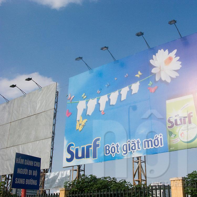 Billboard for washing powder in Hanoi