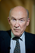 May 26, 2010 - Washington, District of Columbia, U.S., -  Former White House Chief of Staff, Erskine Bowles and Former Senator, Alan Simpson (Pictured) have been named as co-chairs of the National Commission on Fiscal Responsibilty and Reform..(Credit Image: © Pete Marovich/ZUMA Press)