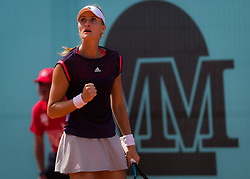 May 3, 2019 - Madrid, MADRID, SPAIN - Kristina Mladenovic of France in action during qualifications at the 2019 Mutua Madrid Open WTA Premier Mandatory tennis tournament (Credit Image: © AFP7 via ZUMA Wire)