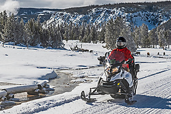 Snowmobiling in Yellowstone is a great way to see the wildlife, and the crazy geology of this crazy place.
