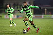 Forest Green Rovers Dan Wishart(17) runs forward during the The FA Cup match between Forest Green Rovers and Exeter City at the New Lawn, Forest Green, United Kingdom on 2 December 2017. Photo by Shane Healey.