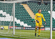 GOAL    Plymouth Argyle Goalkeeper Luke McCormick (23) looks frustrated after Sunderland scored theirs 3 goal  during the EFL Sky Bet League 1 match between Plymouth Argyle and Sunderland at Home Park, Plymouth, England on 1 May 2021.