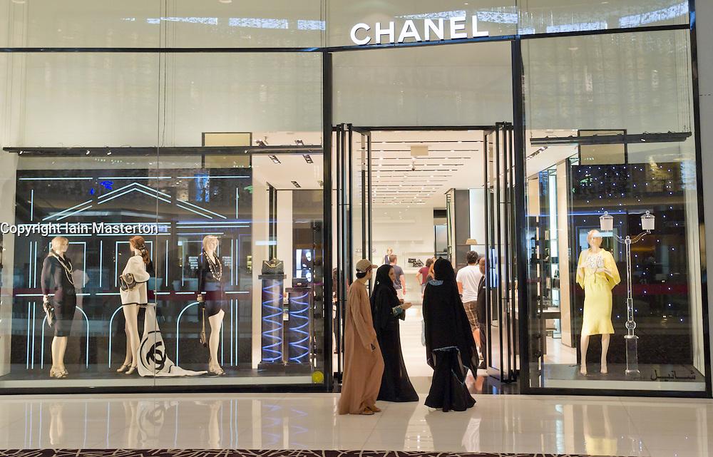 Chanel store in Dubai Mall in Dubai in United Arab Emirates