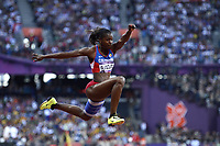 LONDON OLYMPIC GAMES 2012 - OLYMPIC STADIUM , LONDON (ENG) - 05/08/2012 - PHOTO : JULIEN CROSNIER / KMSP / DPPI<br /> ATHLETICS - TRIPLE JUMP WOMEN - CATERINE IBARGUEN (COL) / SILVER MEDAL