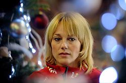 28-12-2010 SCHAATSEN: KPN NK ALLROUND EN SPRINT: HEERENVEEN<br /> In een interview met Mart Smeets heeft Marianne Timmer per direct een punt gezet achter haar schaatscarriere.<br /> ©2010-WWW.FOTOHOOGENDOORN.NL