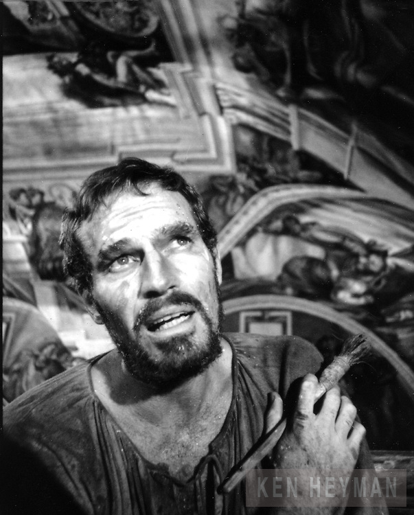 """Charlton Heston in """"The Agony and The Ecstasy."""""""