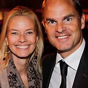 NLD/Amsterdam/20121013- LAF Fair 2012 VIP Night, Frank de Boer en partner Helen van Haren