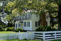 The Moore House, now a museum is the place that General Cornwallis offered his surrender to General Washington at the siege of Yorktown, Virginia.