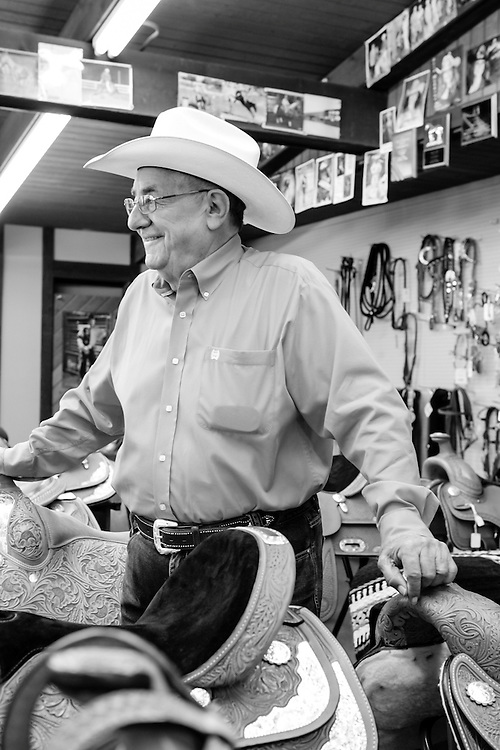 06 June 2012- Downtown Face Joe Kirshenbaum, River City Rodeo & Stock Show is photographed at .Wolf Bros. Western Clothing