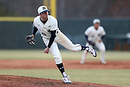 CARY, NC - MARCH 04: Notre Dame's Michael Hearne. The University of Rhode Island Rams played the University of Notre Dame Fighting Irish on March 4, 2017, at USA Baseball NTC Field 3 in Cary, NC in a Division I College Baseball game, and part of the Irish Classic tournament. Notre Dame won the game 8-4.