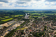 Nederland, Gelderland, Lochem, 30-06-2011;.Zicht op het centrum van Lochem met links het Twentekanaal. luchtfoto (toeslag), aerial photo (additional fee required).copyright foto/photo Siebe Swart