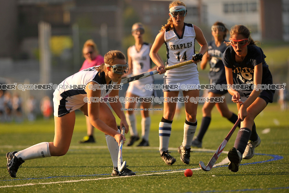 Staples High School Field Hockey..Wilton defeats Westport 3-0 in season opener..Elizabeth Coogan