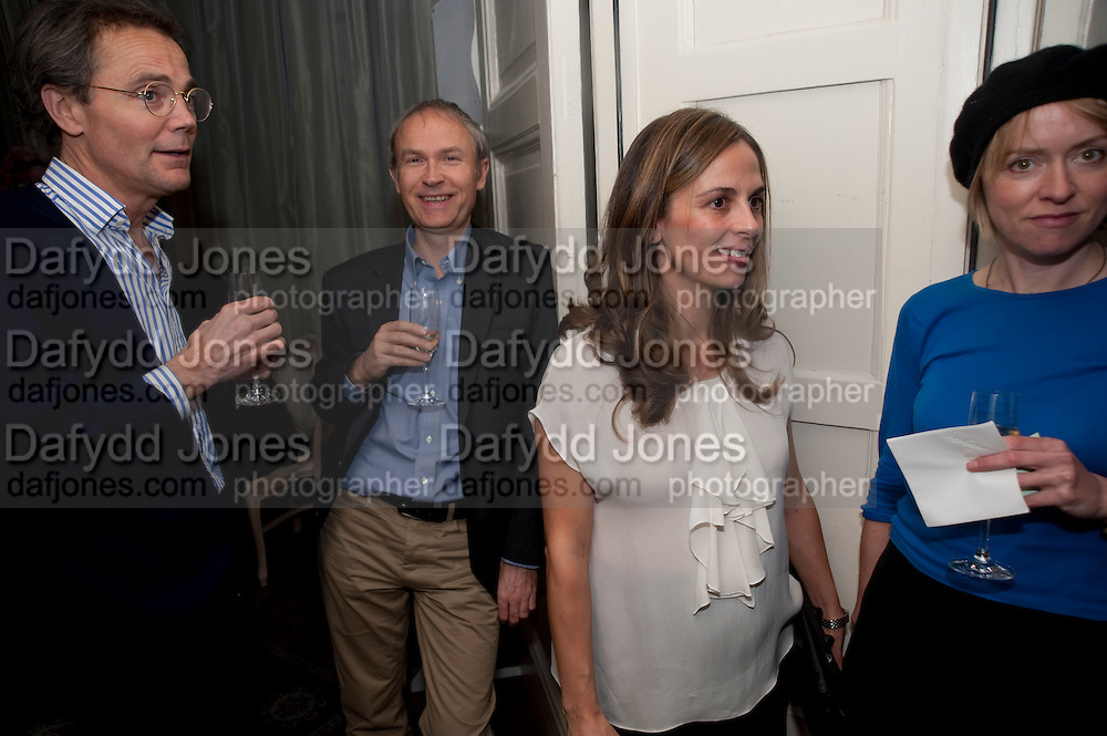 LUKE JOHNSON; LISA JOHNSON, The Dowager Duchess od Devonshire and Catherine Ostler editor of the Tatler host a party to celebrate Penguin's reissue of Nancy Mitford's ' Wigs on the Green.'  The French Salon. Claridge's. London. 10 March 2010.
