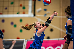 Christie Wolt #1 of Sliedrecht Sport  in action during the first league match in the corona lockdown between Talentteam Papendal vs. Sliedrecht Sport on January 09, 2021 in Ede.
