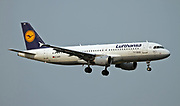 D-AIPP Lufthansa Airbus A320-211 in flight at Malpensa (MXP / LIMC), Milan, Italy