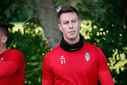 January 6, 2018 - Cadiz, SPAIN - Mouscron's Bruno Godeau pictured during the first day of the winter training camp of Belgian first division soccer team Royal Excel Mouscron, in Cadiz, Spain, Saturday 06 January 2018. BELGA PHOTO BRUNO FAHY (Credit Image: © Bruno Fahy/Belga via ZUMA Press)