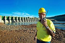 A Usina Hidrelétrica Foz do Chapecó se localiza no rio Uruguai, entre os municípios de Águas de Chapecó (SC) e Alpestre (RS). Seu canteiro de obras tem aproximadamente 533 hectares. Sua Potência instalada é de 855 MW. FOTO: Jefferson Bernardes/ Agência Preview