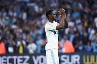 Joie Marseille - Nicolas Nkoulou - 10.05.2015 - Marseille / Monaco - 36eme journee de Ligue 1<br /> Photo : Alexandre Dimou / Icon Sport