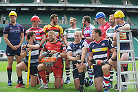 Rugby Union - 2017 / 2018 (RFU) Greene King IPA Championship - New Season Launch Photocall<br /> <br /> The Captains of the new season's Championship, pose with Power Tools for one of the seasons Sponsors at Twickenham.<br /> <br /> COLORSPORT/ANDREW COWIE