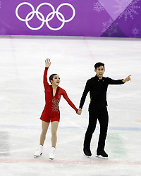 February 15, 2018 - Pyeongchang, KOREA - Wenjing Sui and Cong Han of China compete in pairs free skating during the Pyeongchang 2018 Olympic Winter Games at Gangneung Ice Arena. (Credit Image: © David McIntyre via ZUMA Wire)
