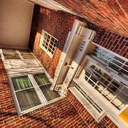 Kansas City, Missouri midtown area colonnade style apartments.
