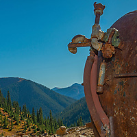 Old mining equipment scatters the mountainsides near Silverton, Colorado.