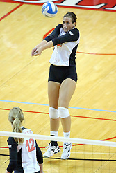 13 October 2011:Leighann Hranka  during an NCAA volleyball match between the Indiana State Sycamores and the Illinois State Redbirds at Redbird Arena in Normal Illinois.