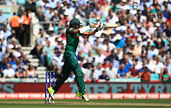 Bangladesh's Soumya Sarkar is caught out by England's Jonny Bairstow (not pictured) during the ICC Champions Trophy, Group A match at The Oval, London.