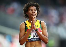 July 14, 2018 - London, United Kingdom - Stephanie Ann McPherson of Jamaica (WINNER) compete in the 400m Women during Athletics World Cup London 2018 at London Stadium, London, on 14 July 2018  (Credit Image: © Action Foto Sport/NurPhoto via ZUMA Press)