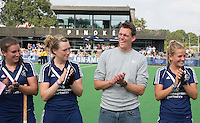 AMSTELVEEN - HOCKEY - Coach Maarten Stenvers van Pinoke  tijdens de eerste competitiewedstrijd van het nieuwe seizoen tussen de vrouwen van Pinoke en Bloemendaal (2-1). COPYRIGHT KOEN SUYK
