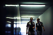 Hungarian Grand Prix 2013<br /> our best selection from Award winning Photographer Darren Heath.<br /> Raikkonen and Vettel chat before the race<br /> ©Darren Heath/Exclusivepix