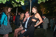 KATYA FORMICHEV; VANESSA FERNANDEZ; ROBERT HANSON; MASHA MARKOVA, Serpentine Summer party 2012 sponsored by Leon Max. Pavilion designed by Herzog & de Meuron and Ai Weiwei. Kensington Gardens. London. 26 June 2012.