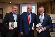 NO FEE PICTURES<br /> 20/1/16  Noel Whelan with Paddy Power (left) and Sean O'Rourke at the launch of his book, The Tallyman's Campaign Handbook at the Alexander Hotel in Dublin. Picture: Arthur Carron