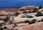 Approaching storm, Devils Garden, Arches National Park, Utah.