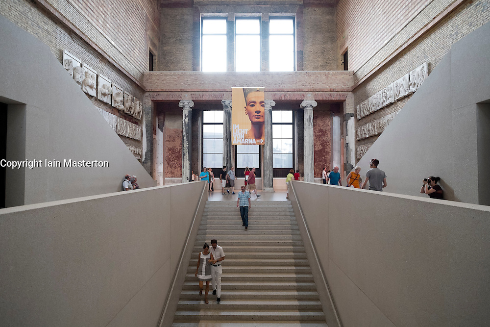 Neues Museum or New Museum on UNESCO Museum Island or Museumsinsel in Berlin Germany