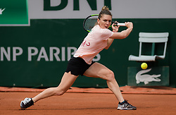 May 23, 2019, Paris, France: SIMONA HALEP of Romania during practice at the 2019 Roland Garros Grand Slam tennis tournament (Credit Image: © AFP7 via ZUMA Wire)