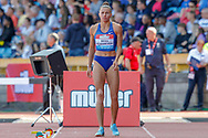 Maryna Bekh-Romanchuk (Ukraine), Women's Long Jump, during the Muller Grand Prix at the Alexander Stadium, Birmingham, United Kingdom on 18 August 2019.