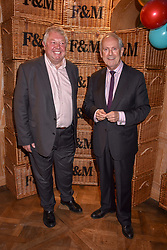Left to right, Nick Ferrari and Gyles Brandreth at the launch of the Fortnum & Mason Christmas & Other Winter Feasts Cook Book by Tom Parker Bowles held at Fortnum & Mason, 181 Piccadilly, London, England. 17 October 2018.