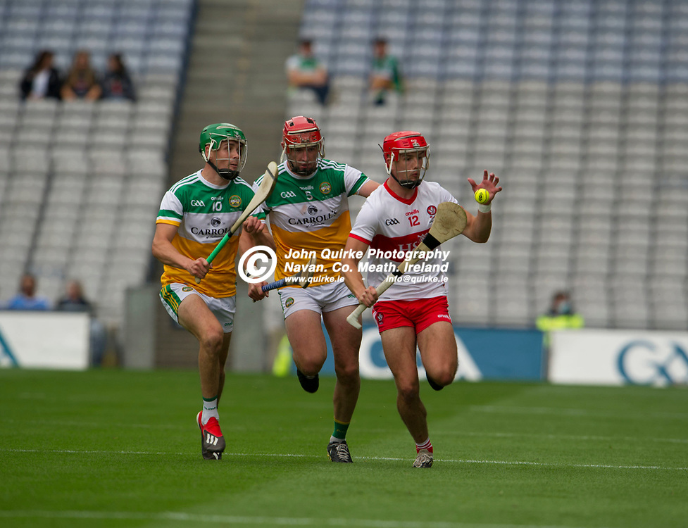 01–08-21.<br /> Derry v Offaly - Christy Ring Cup Final at Croke Park.<br /> John Mullane, Derry in action against Offaly in the Christy Ring Cup Final.<br /> Photo: the John Quirke / www.quirke.ie<br /> ©John Quirke Photography, 16 Proudstown Road, Navan. Co. Meath. (info@quirke.ie / 046-9028461 / 087-2579454).